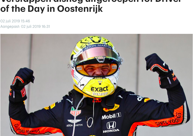 Max Verstappen Vote Company